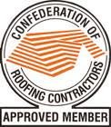 Approved member of the confederation of roofing contractors